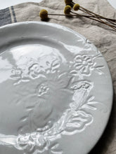 Load image into Gallery viewer, Embroidered Series Dinner Plate white- French