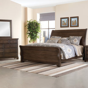 Whiskey Barrel Sleigh Bed