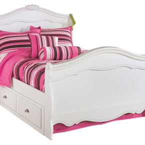 Exquisite Full Sleigh Bed with 4-Storage