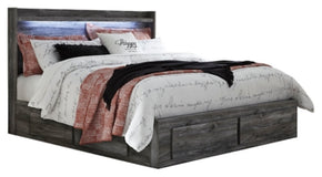 Baystorm King Panel Bed with 2-Storage