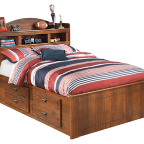 Barchan Full Panel Bed with 4-Storage