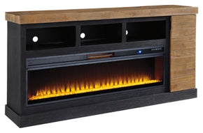 "Tonnari 74"" TV Stand with Electric Fireplace"