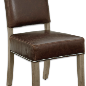 Simply Dining Genuine Leather Chair
