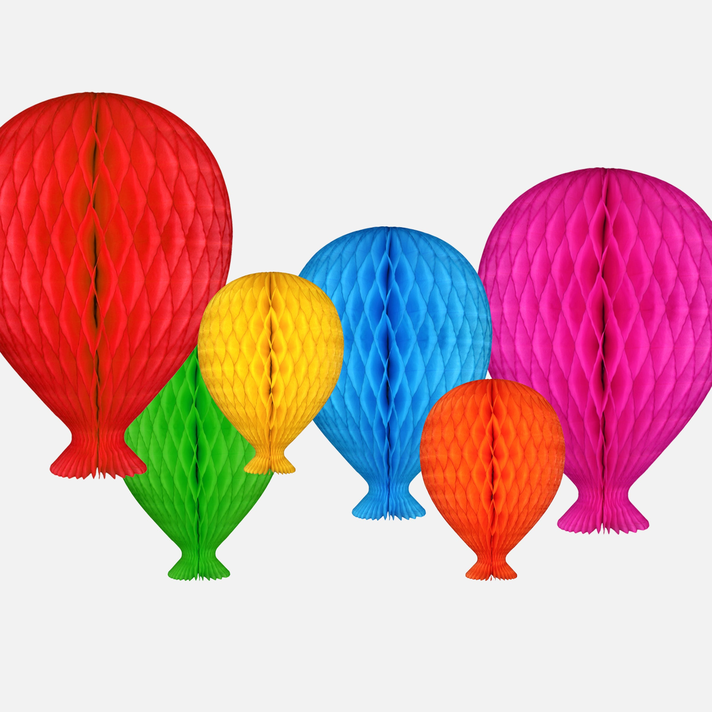 Honeycomb Balloon, Bright Yellow