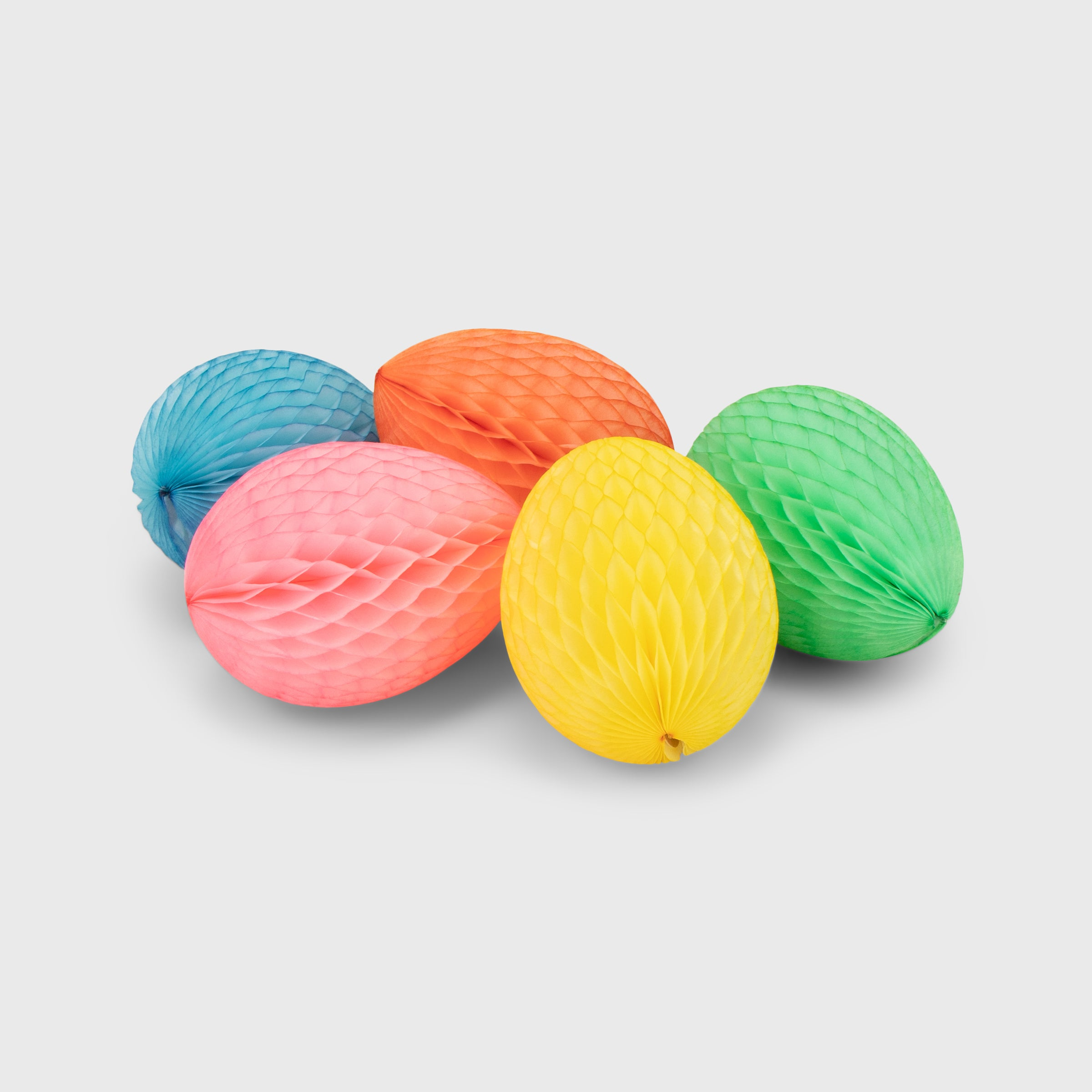 Honeycomb Eggs 8cm Pack of 5, Pastel