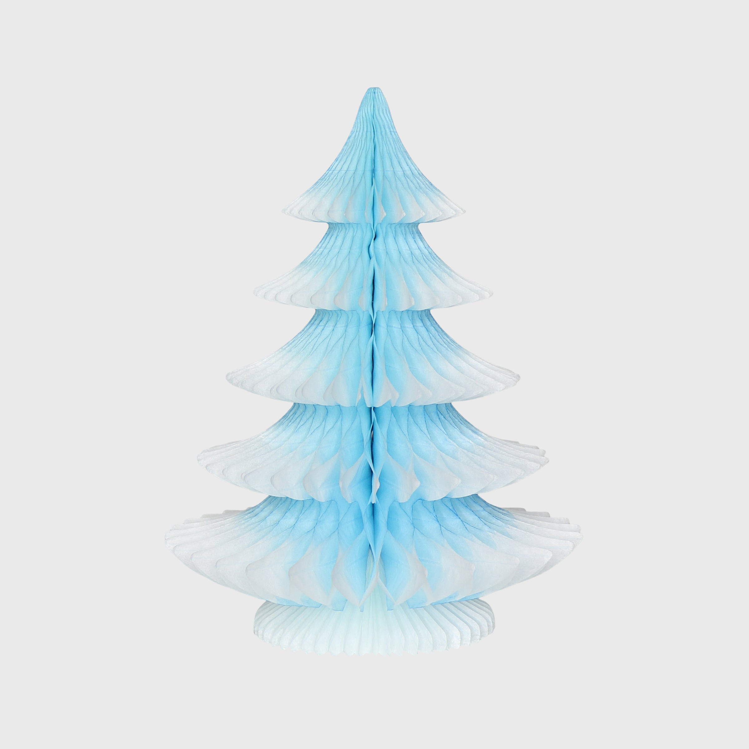 Snow Tipped Honeycomb Christmas Tree, Ice Blue