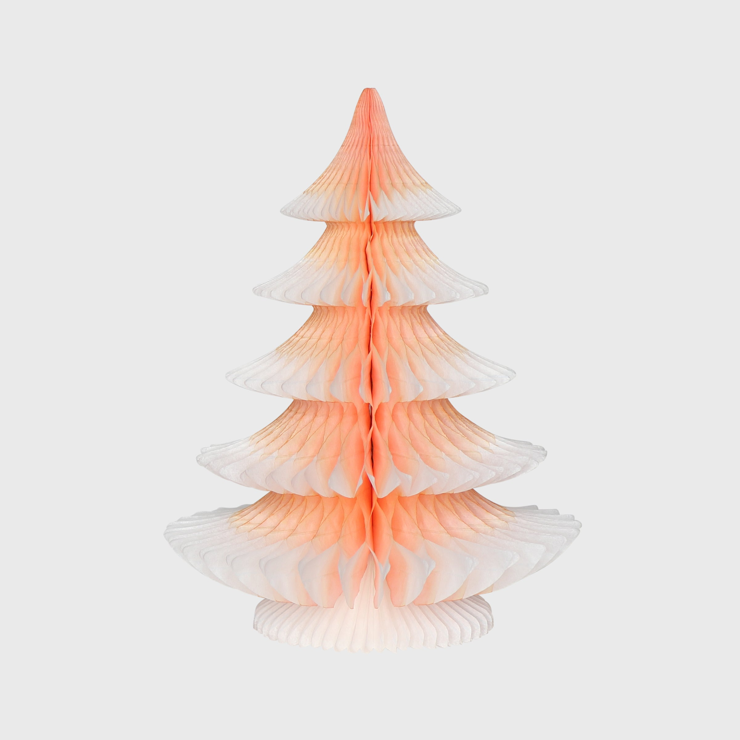 Snow Tipped Honeycomb Christmas Tree, Mulled Peach