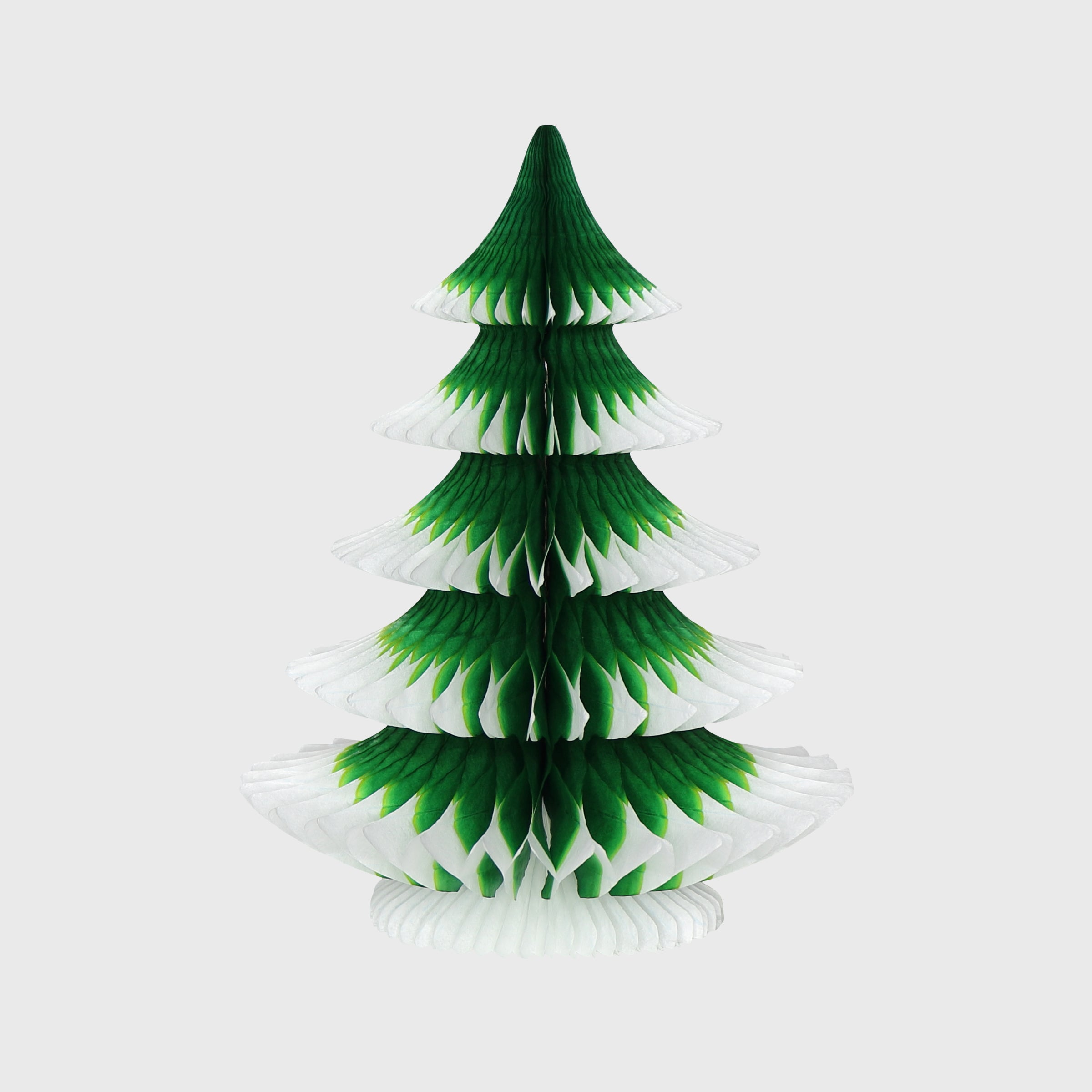 Snow Tipped Honeycomb Christmas Tree, Classic Green