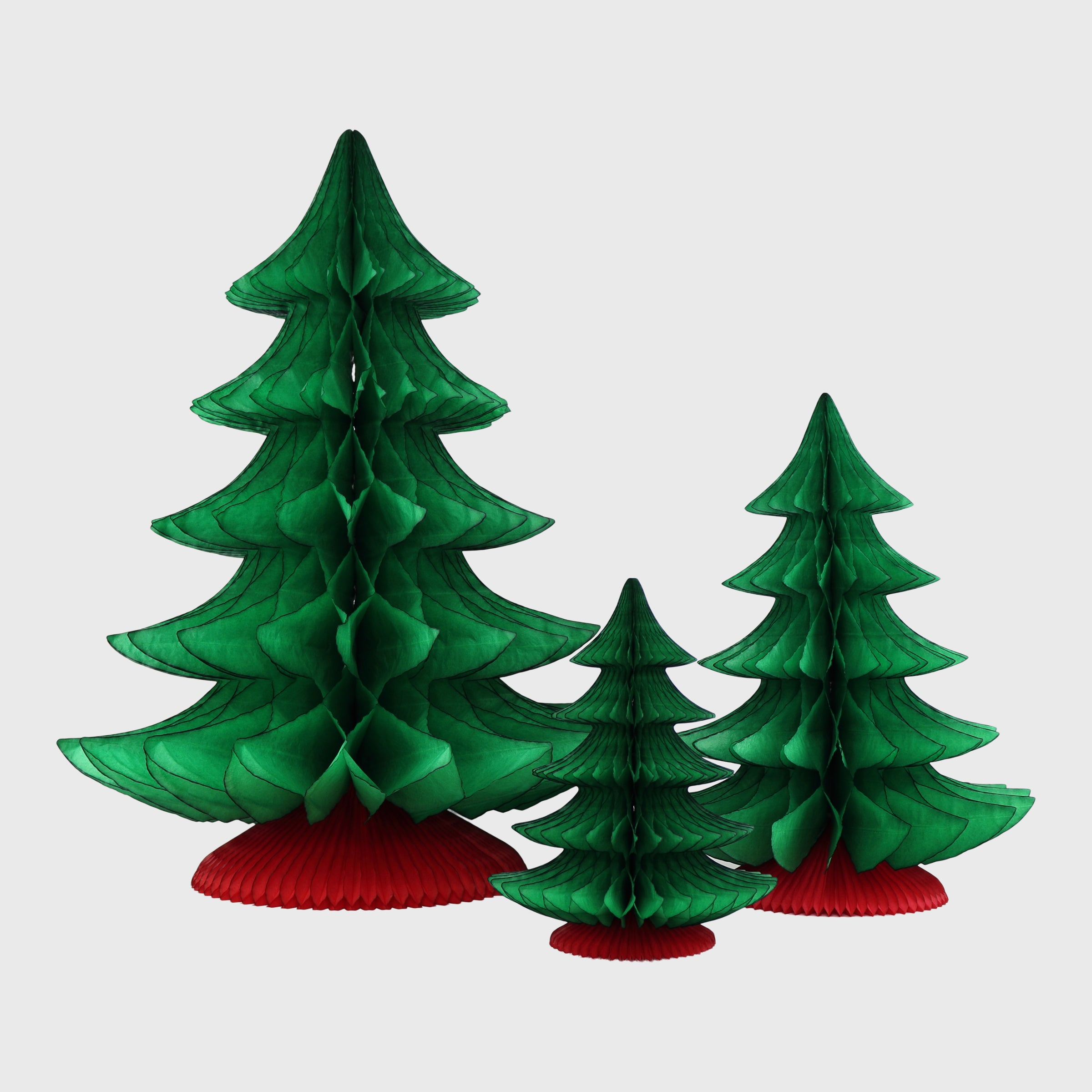 Honeycomb Traditional Christmas Tree, Classic Green