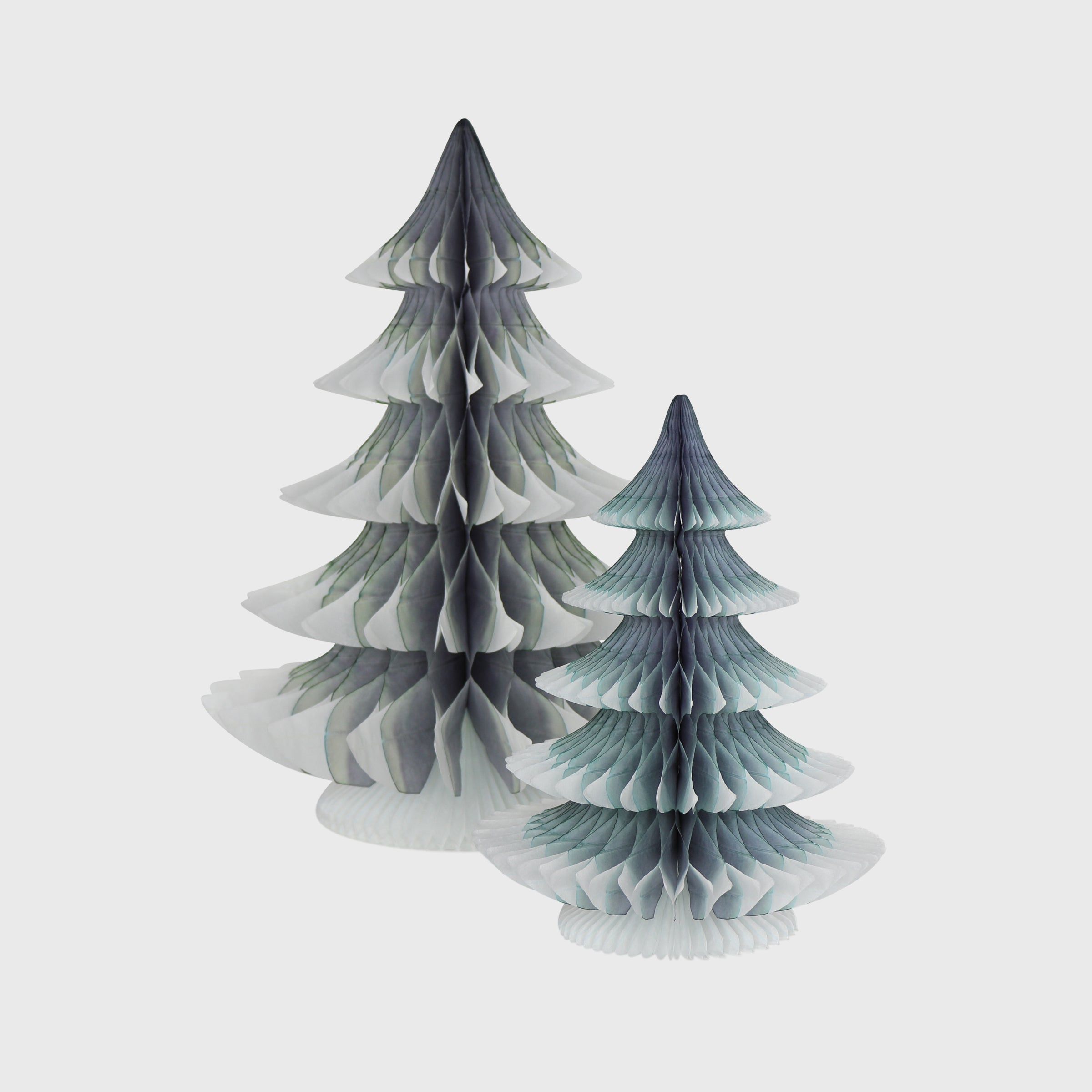 Snow Tipped Honeycomb Christmas Tree, Grey