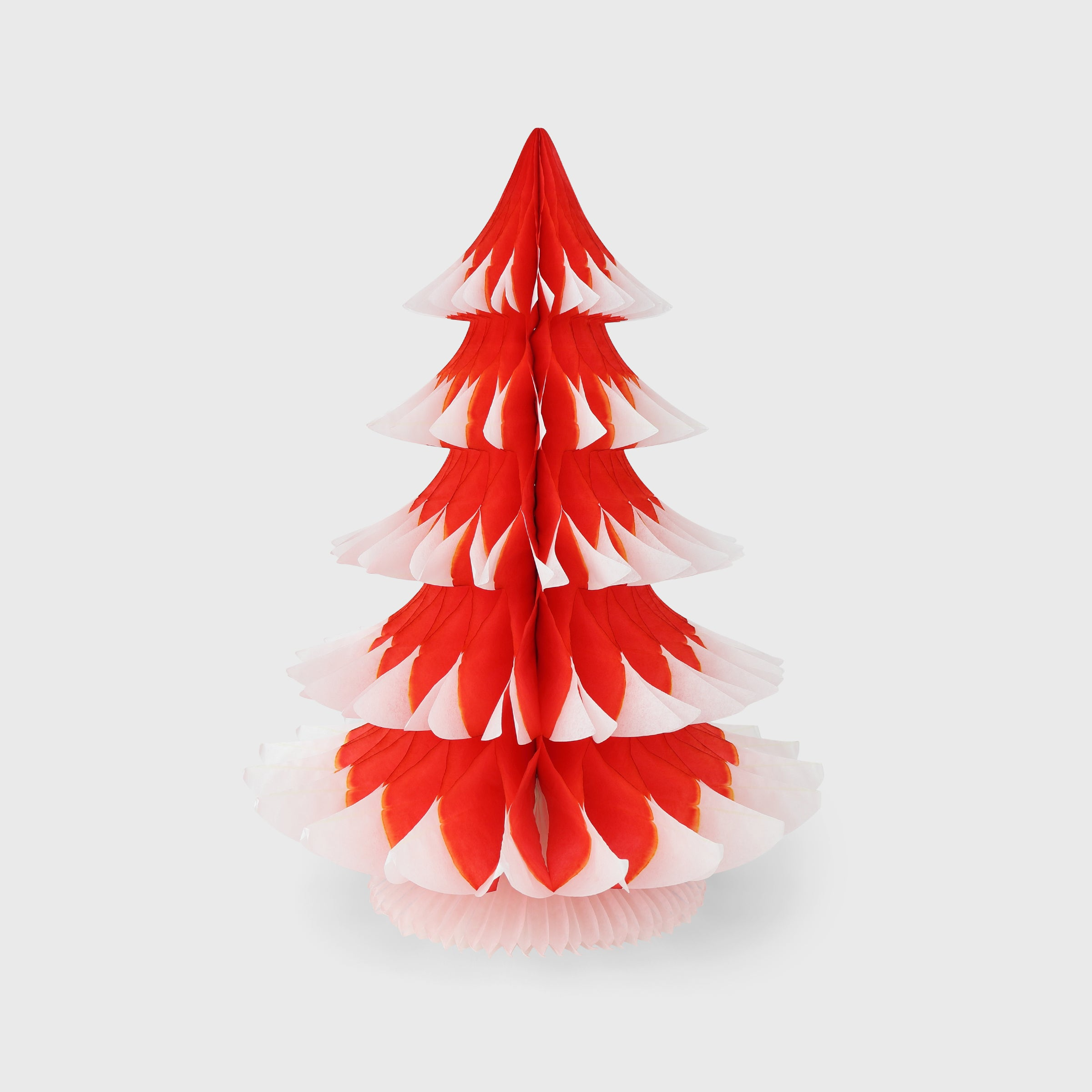Snow Tipped Honeycomb Christmas Tree 40cm, Bright Red