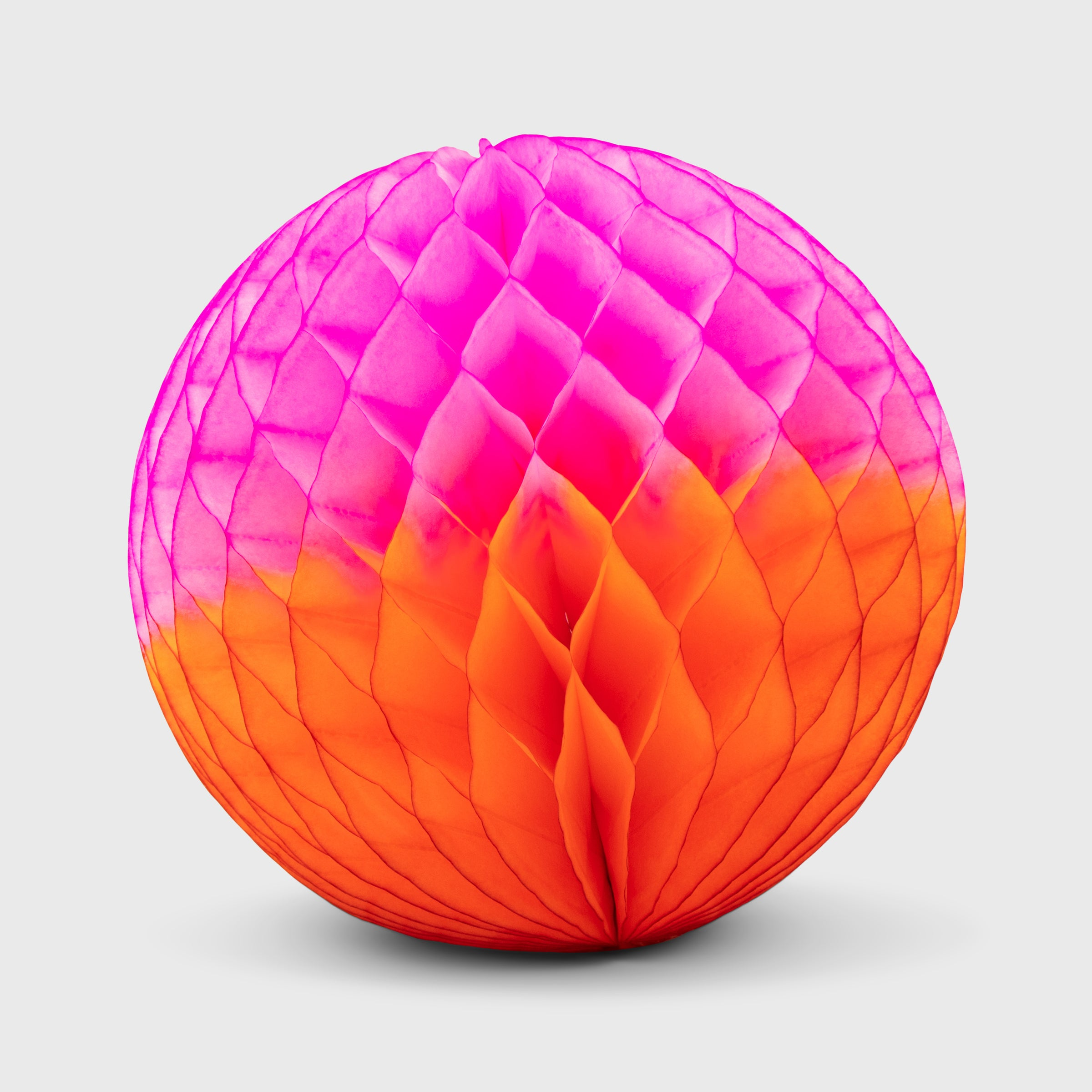 Honeycomb Ball 25cm, Orange & Pink Two-Tone