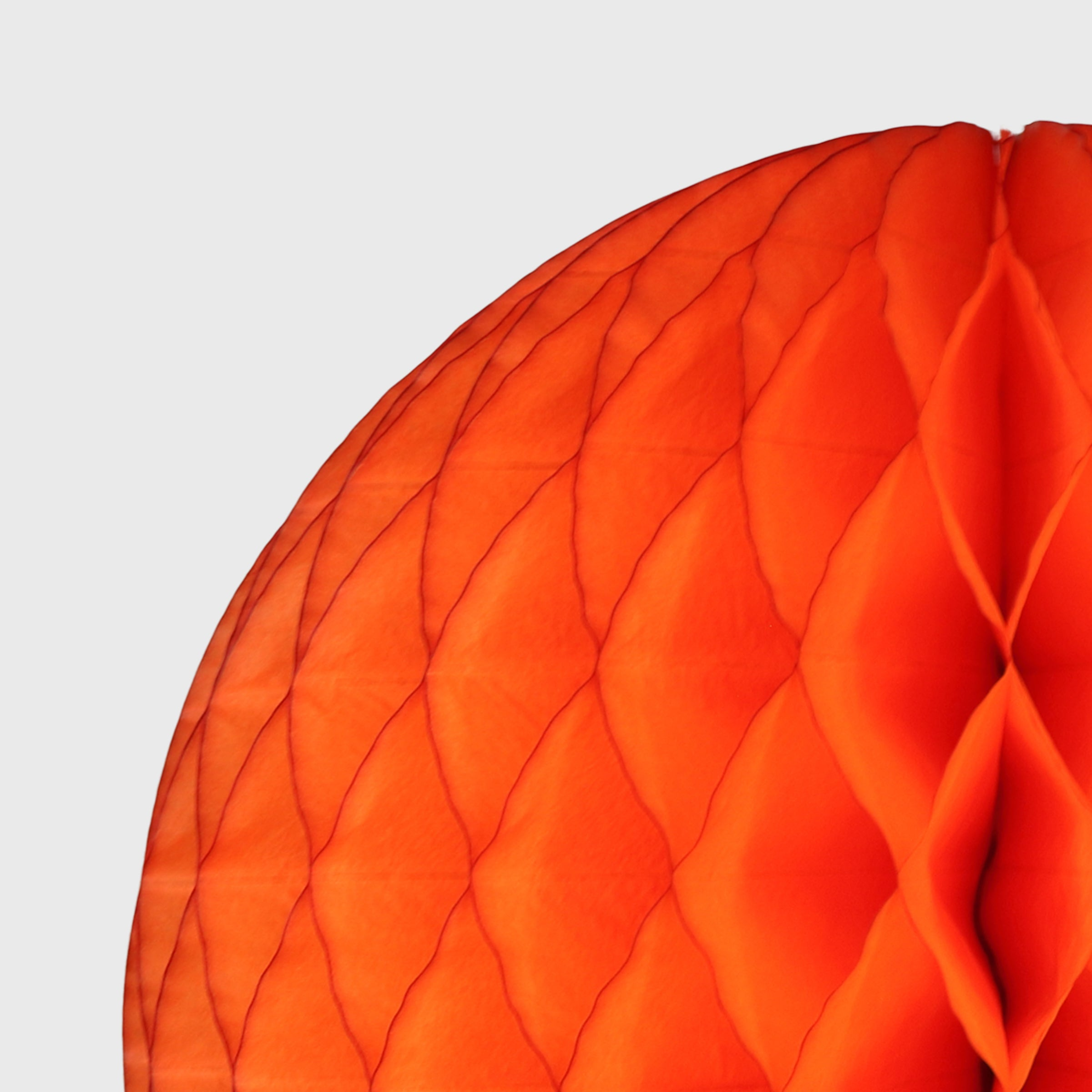 Honeycomb Ball, Bright Orange