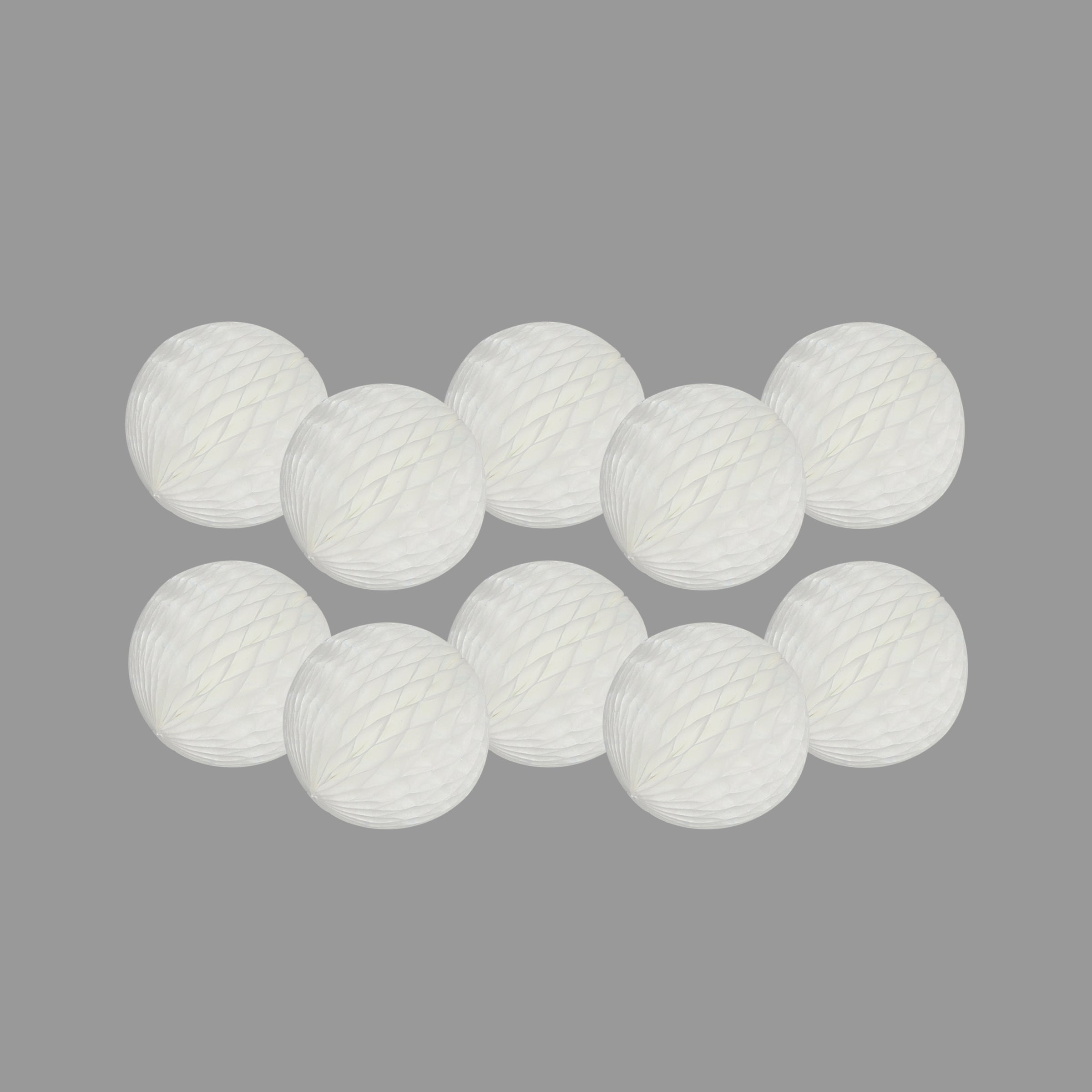 Honeycomb Ball 8cm Pack of 10, White