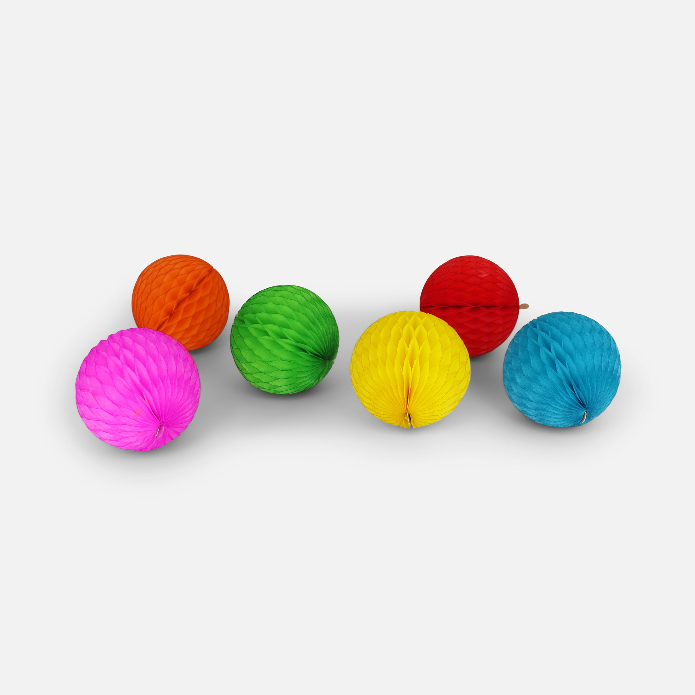 Honeycomb Ball 5cm Pack of 6, Rainbow