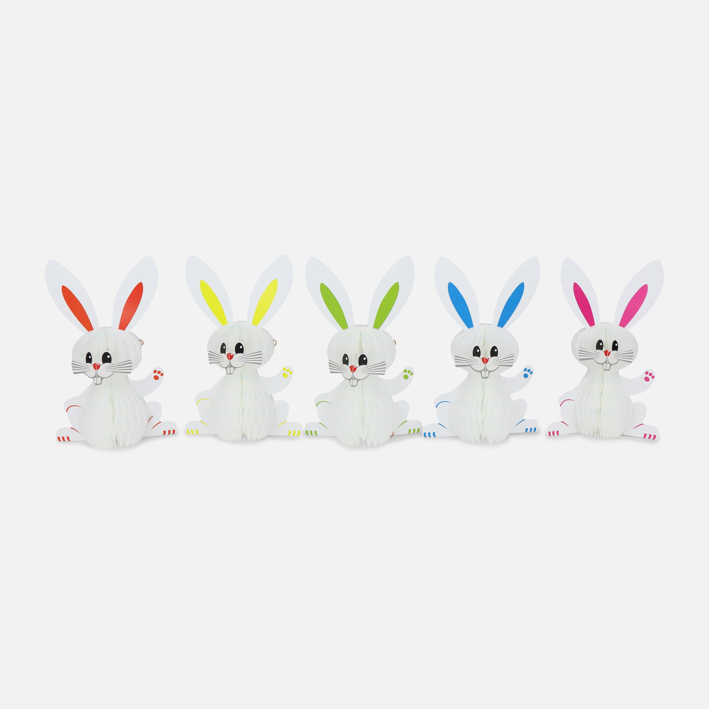 Honeycomb Bunny 15cm Pack of 5, White