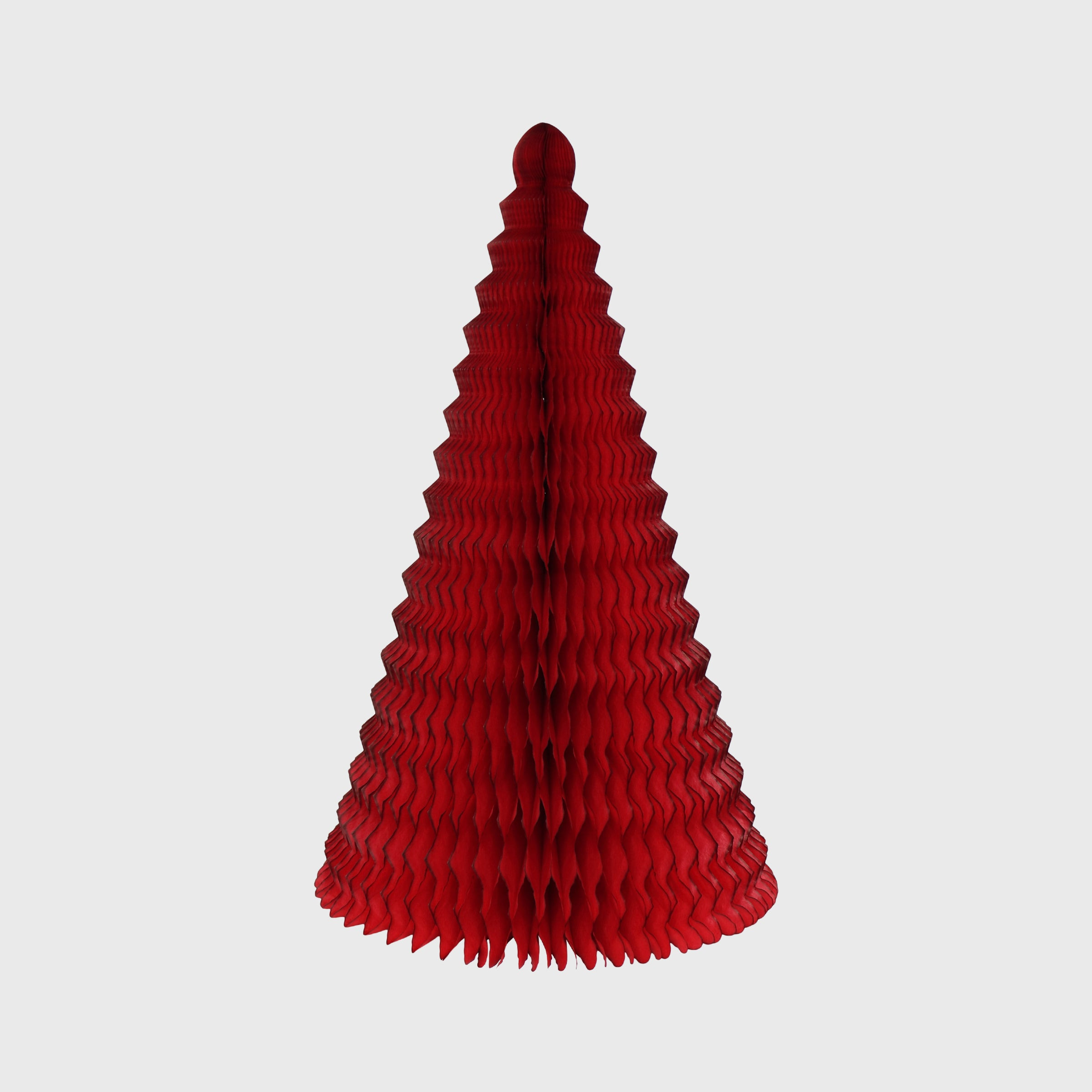 Cone Honeycomb Tree, Classic Red