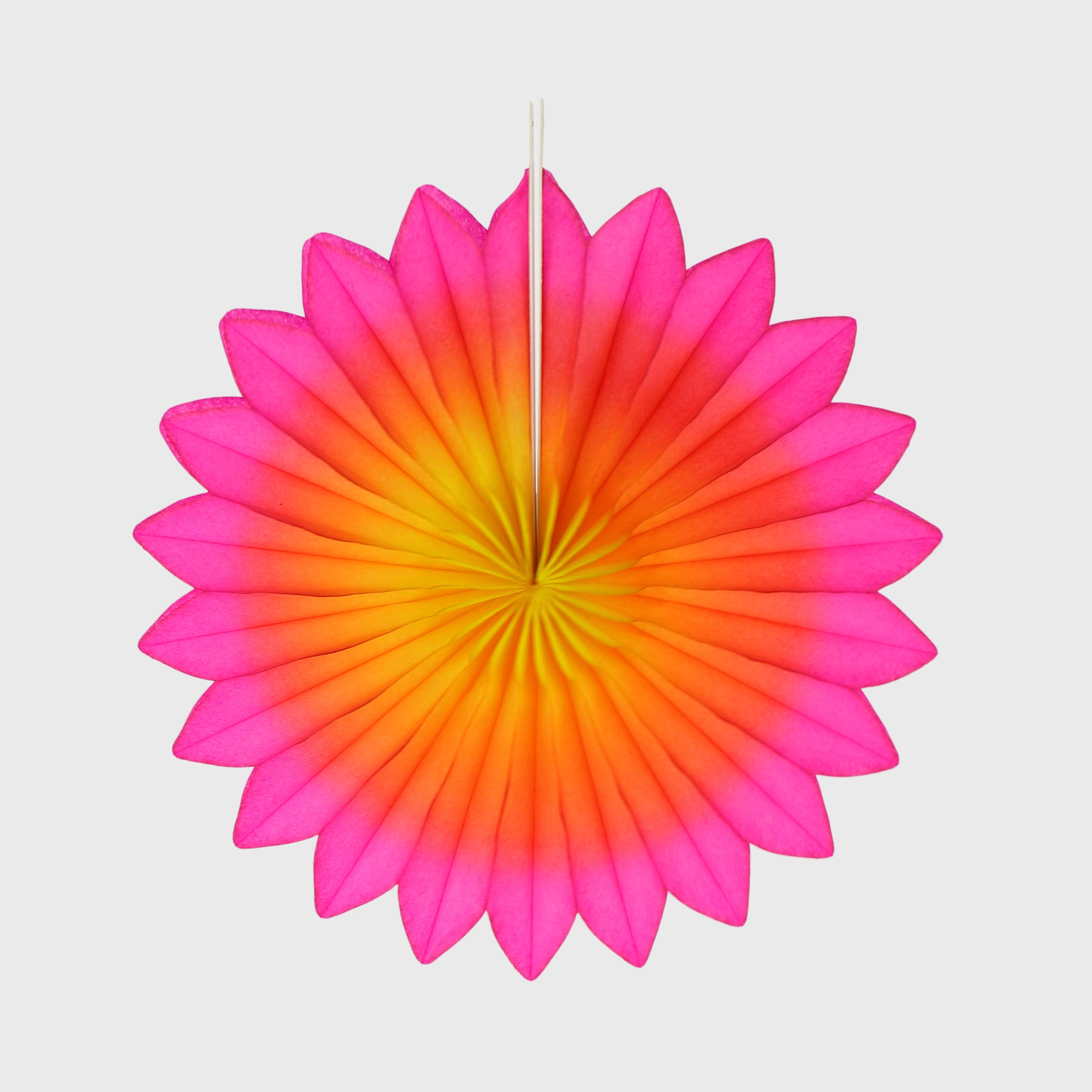 Flower Fan 15cm Pack of 3, Bright