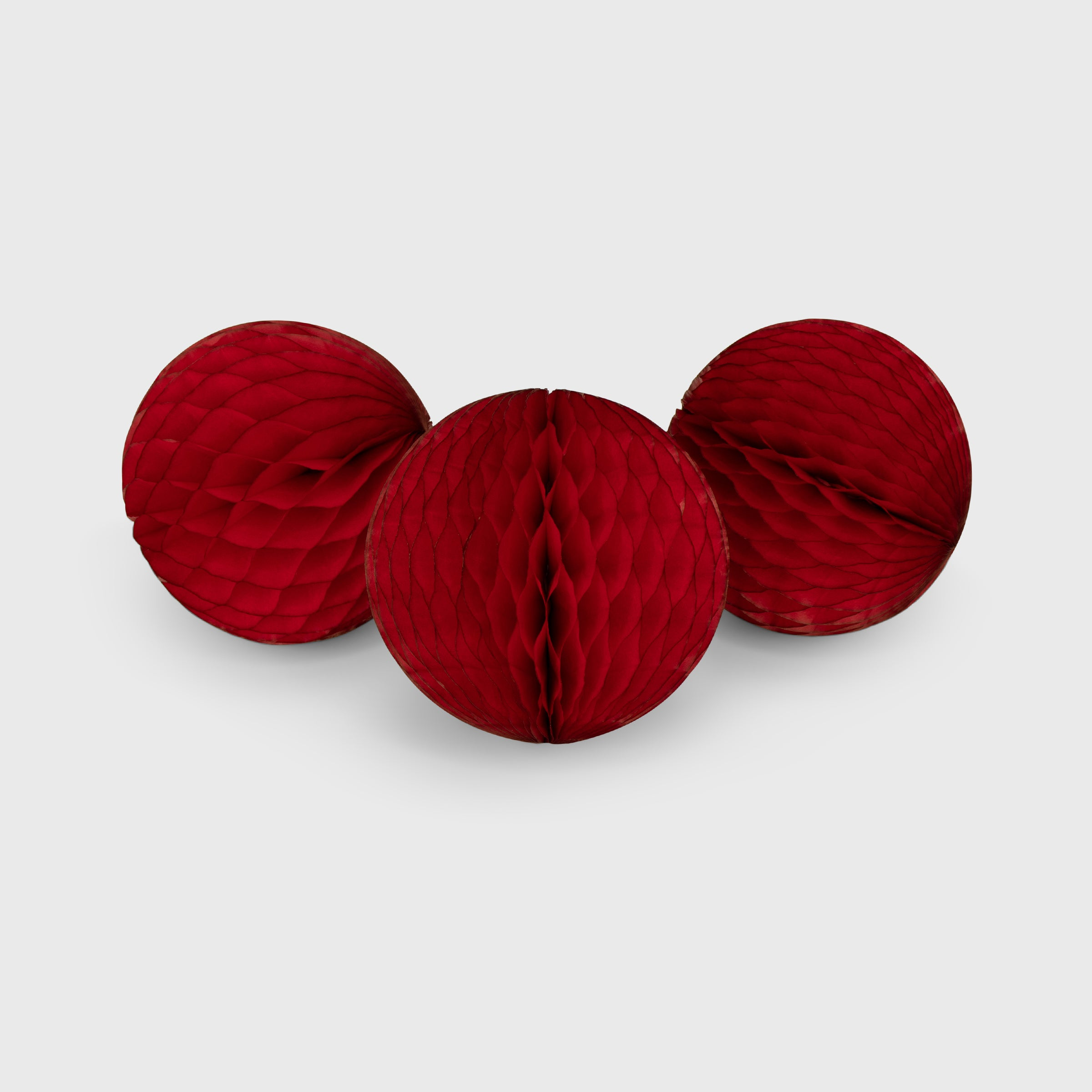 Honeycomb Ball 15 cm, Classic Red 3 pack