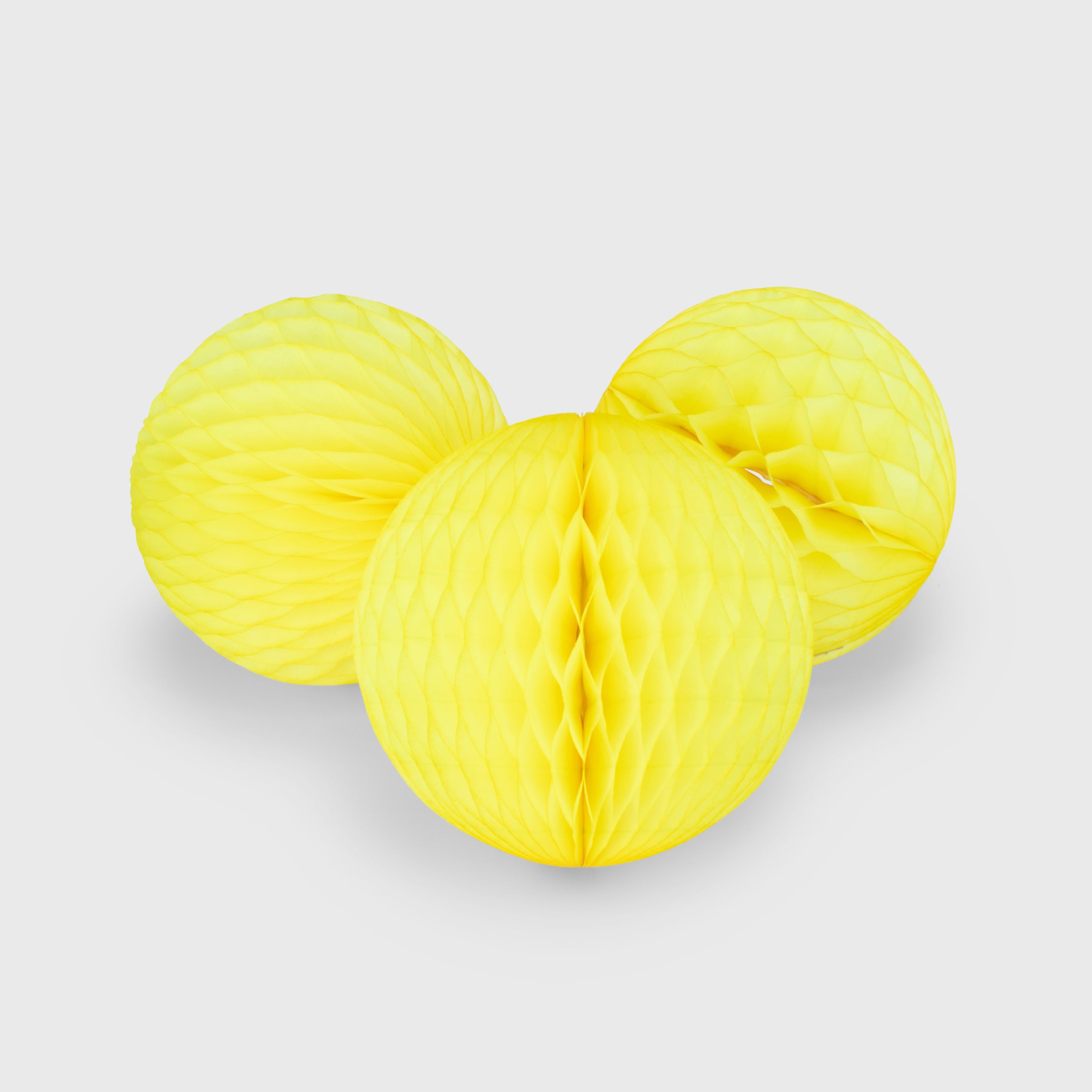 Honeycomb Ball 15cm Pack of 3, Lemon Sherbet