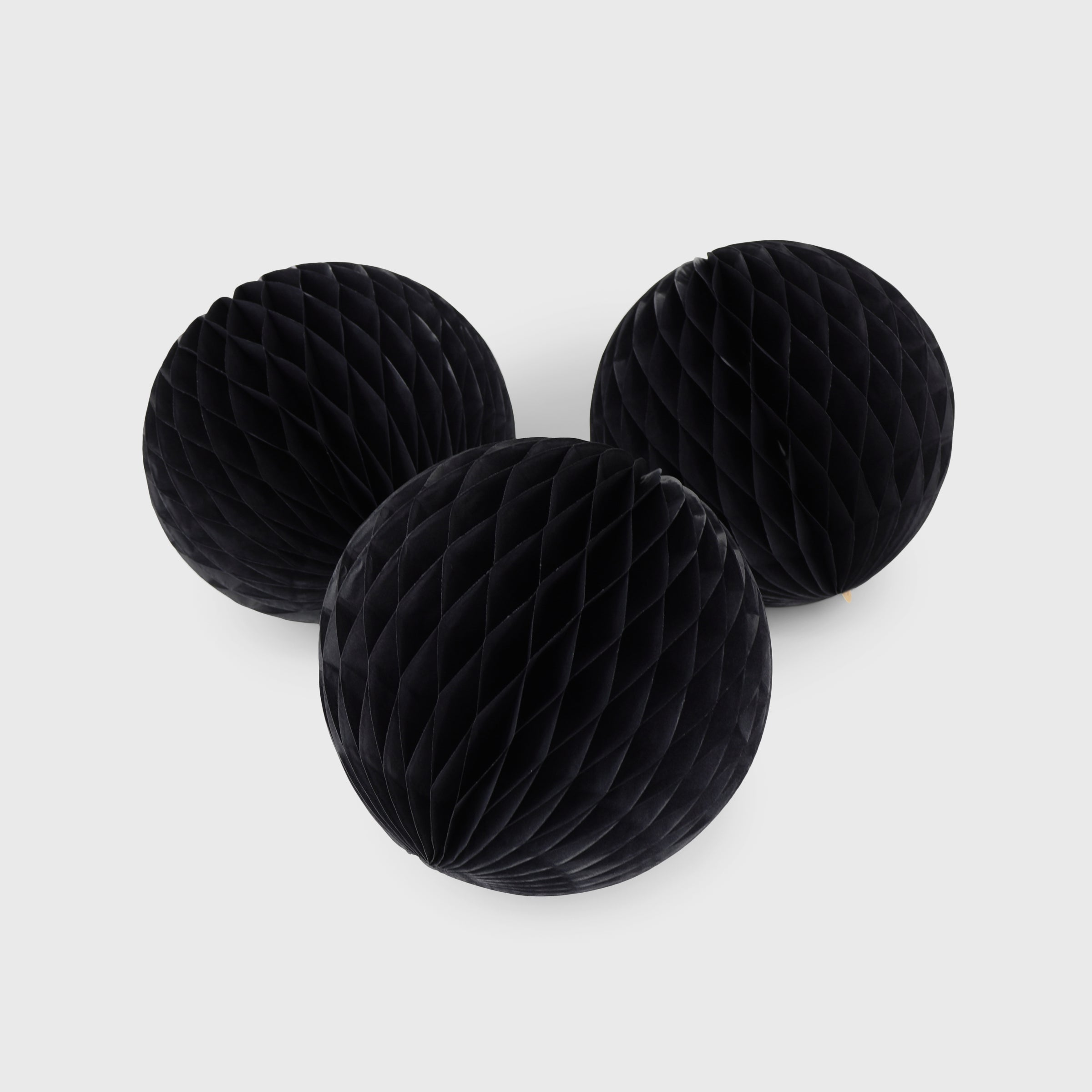 Honeycomb Ball 15cm Pack of 3, Black