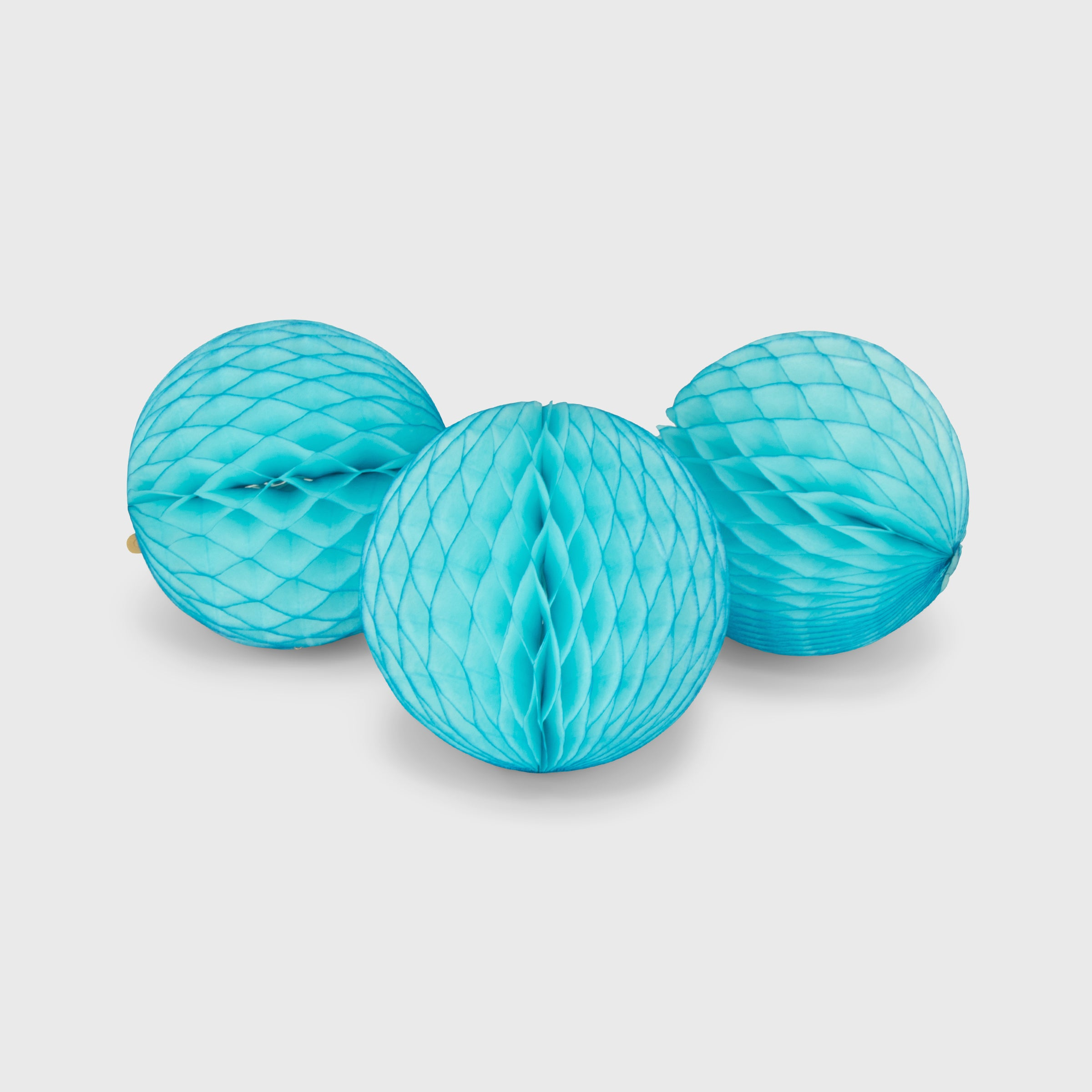 Honeycomb Ball 15cm Pack of 3, Sky Blue