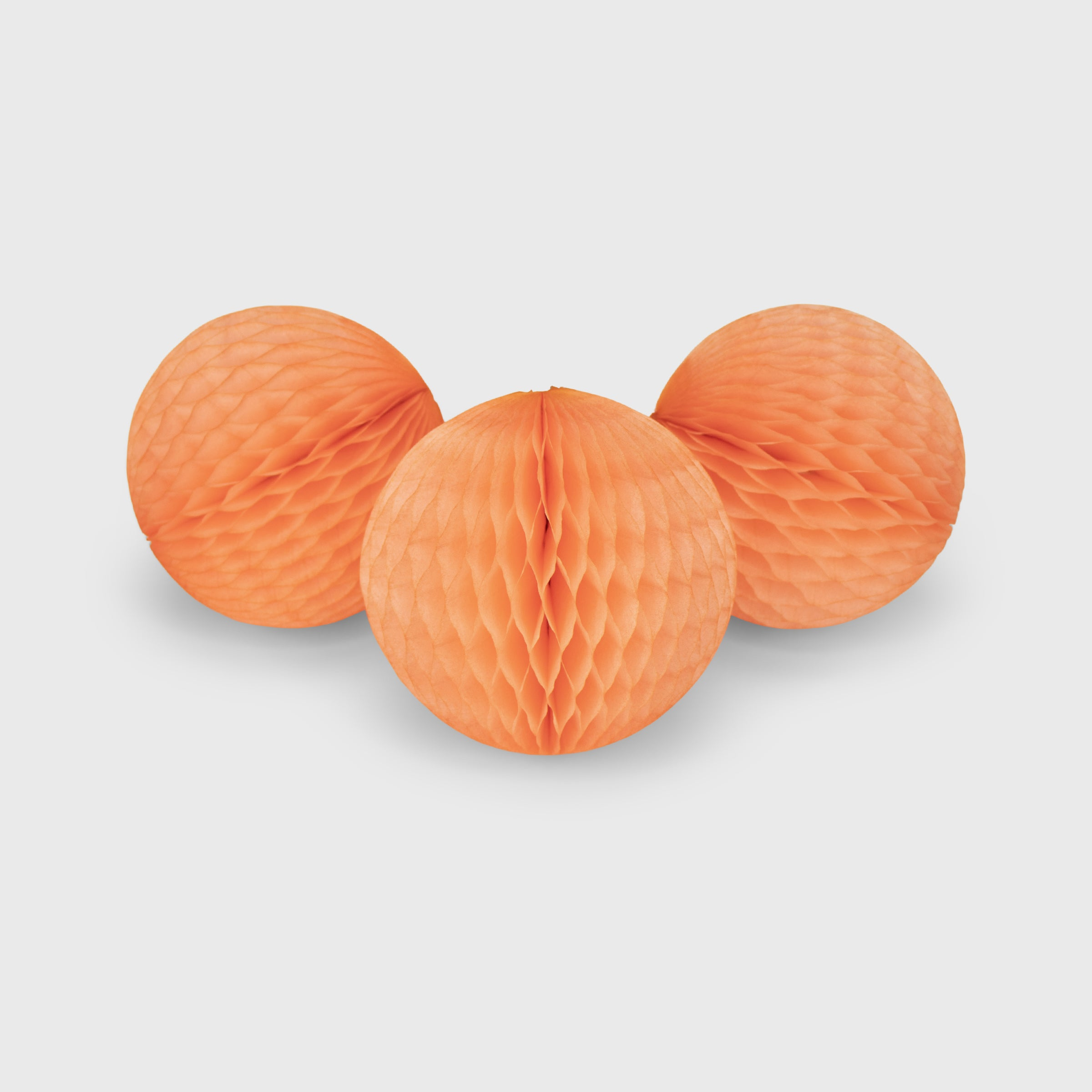 Honeycomb Ball 15cm Pack of 3, Peach