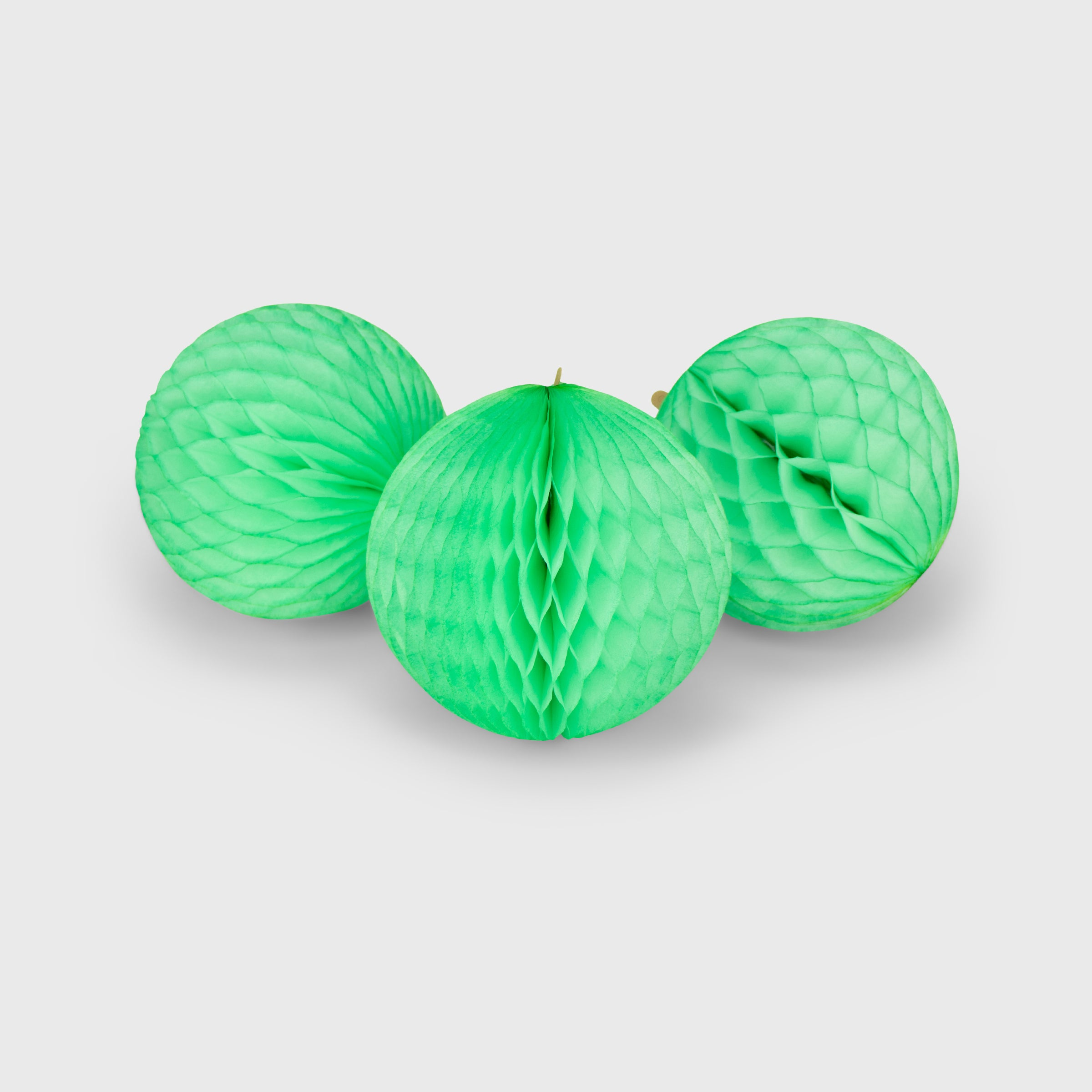 Honeycomb Ball 15cm Pack of 3, Lime Sherbet