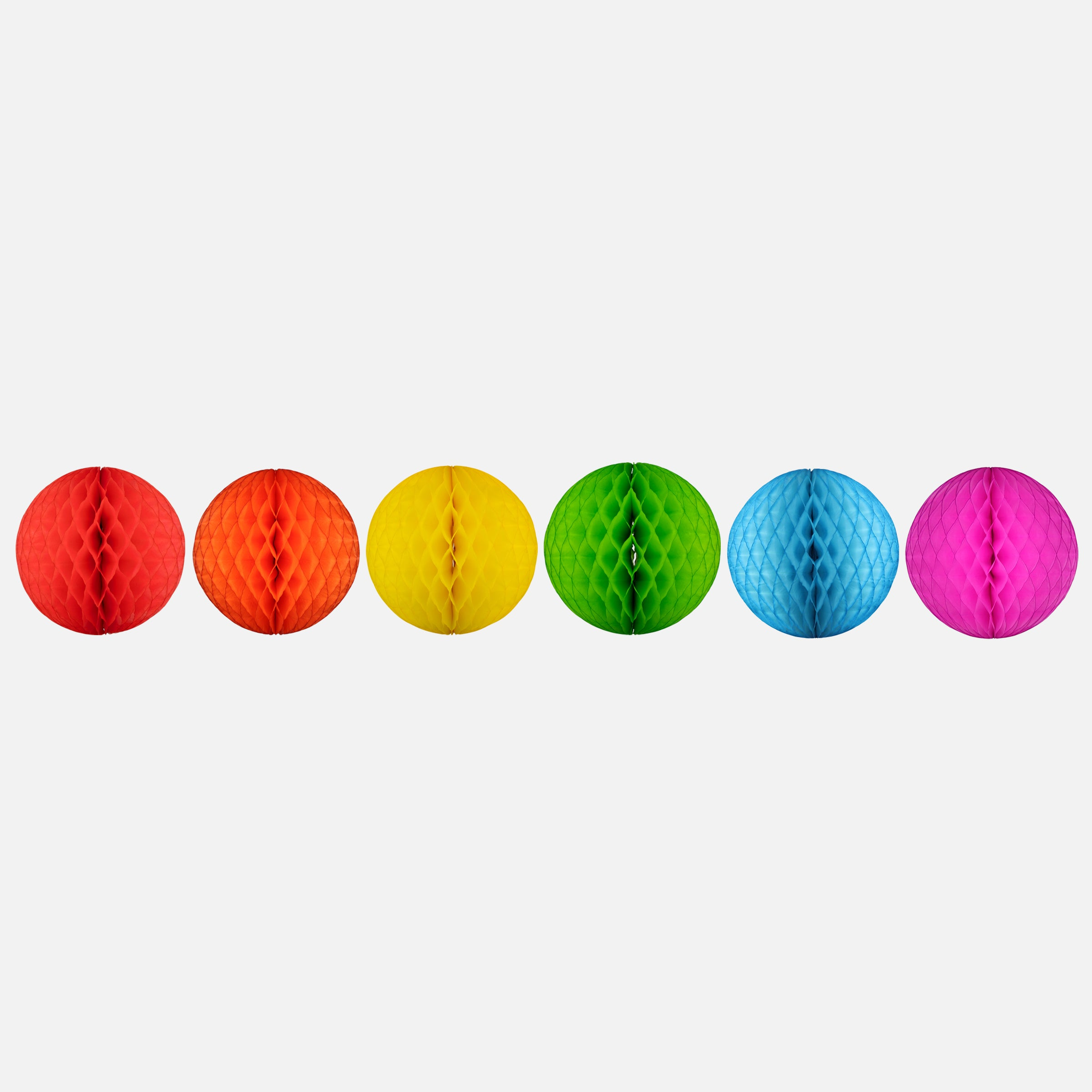 Honeycomb Ball 15cm, Rainbow Set