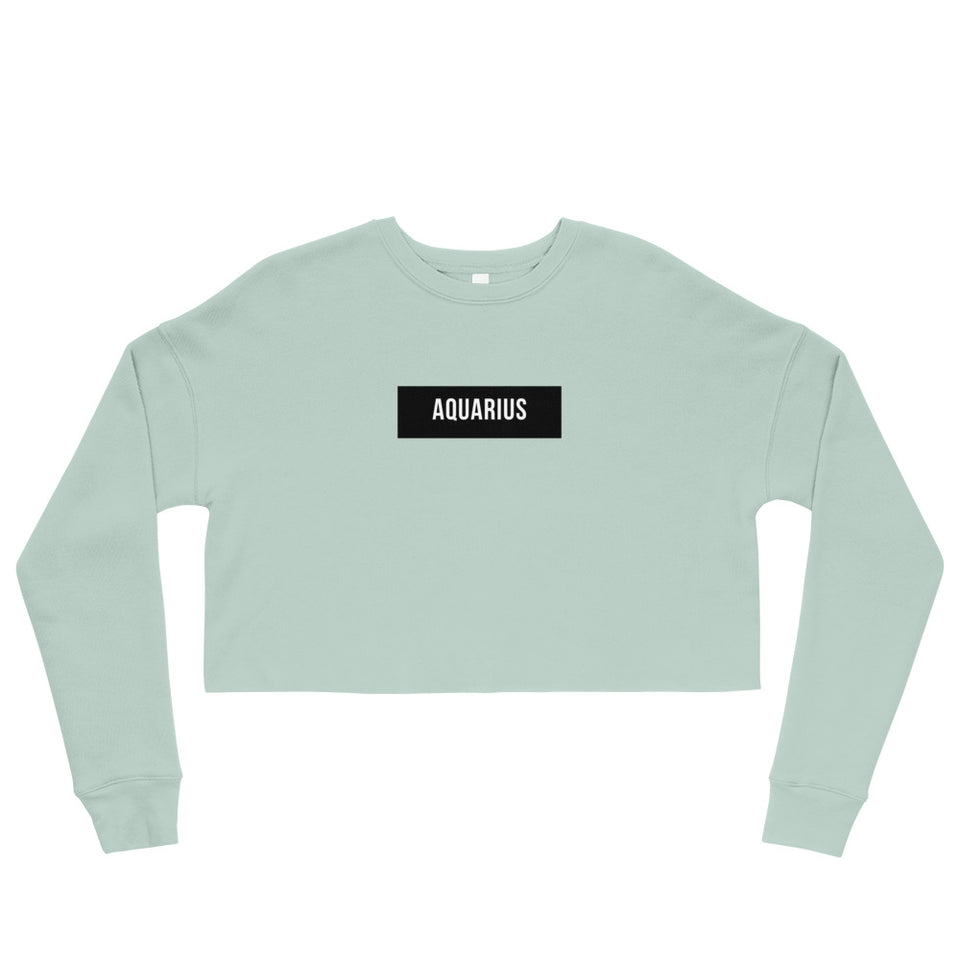 Aquarius Crop Sweatshirt