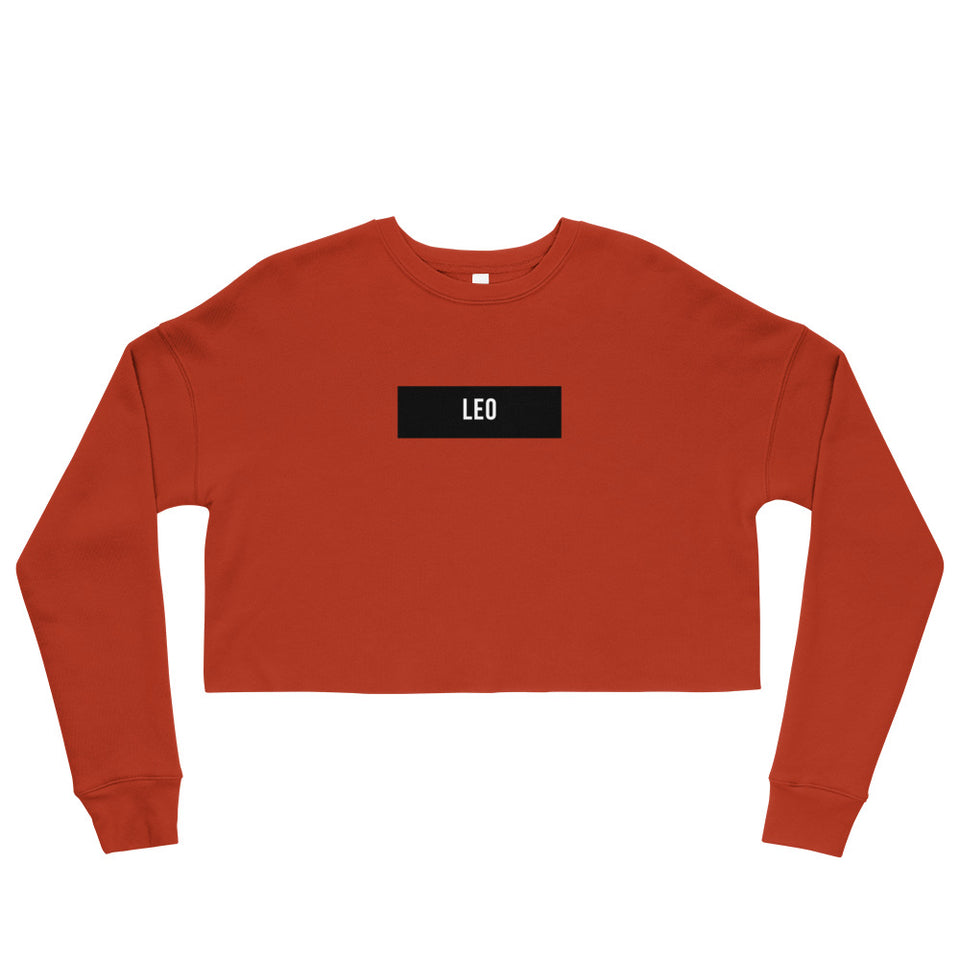 Leo Crop Sweatshirt