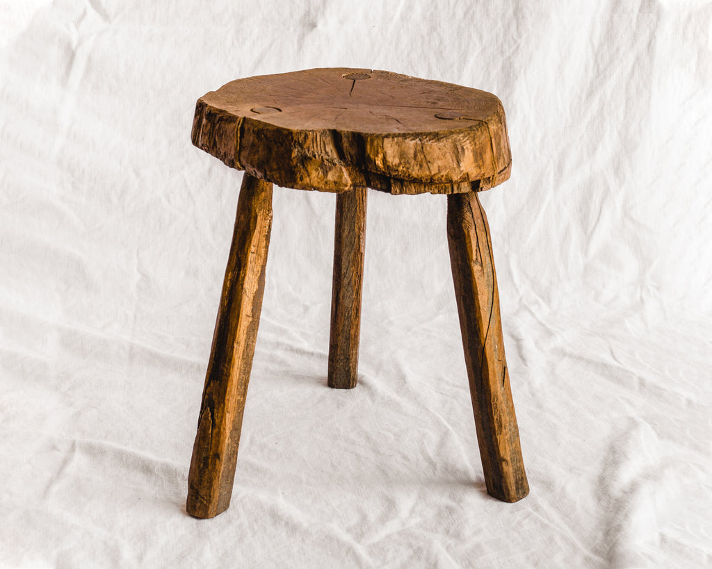 Three Legged Slab Stool