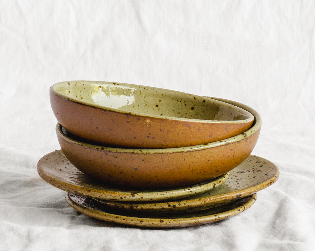 Stoneware Plate and Bowl Set