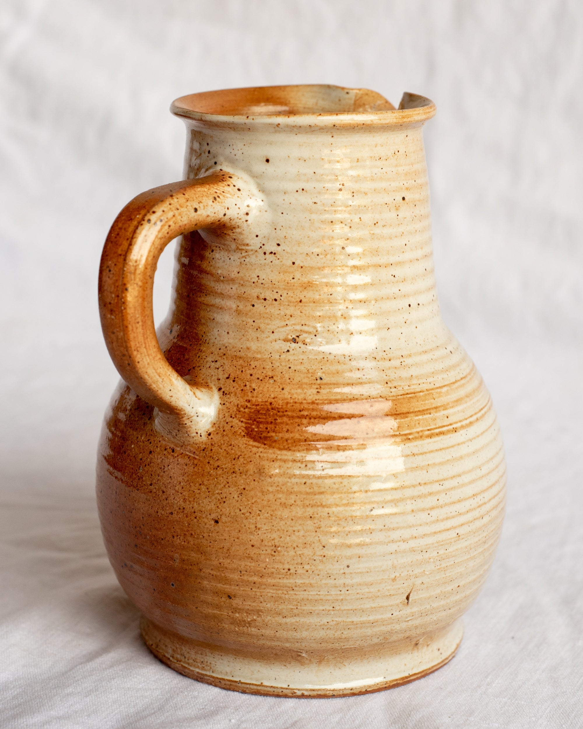 French Stoneware Pitcher