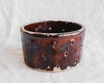 Large Dark Brown Cheese Pot