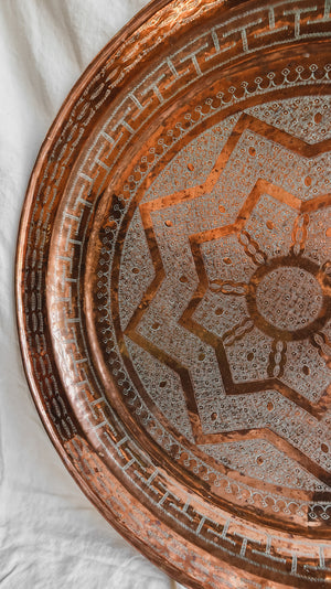 Extra Large Moroccan Copper Tray