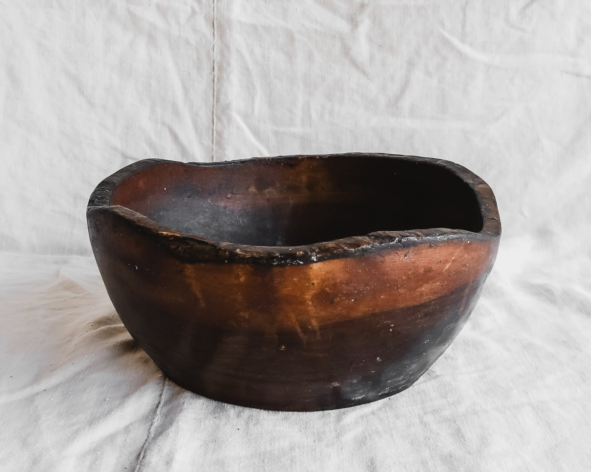 Vintage Carved Wood Bowl