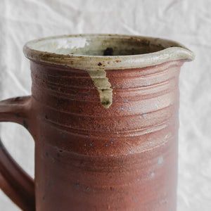 Two Toned Stoneware Pitcher