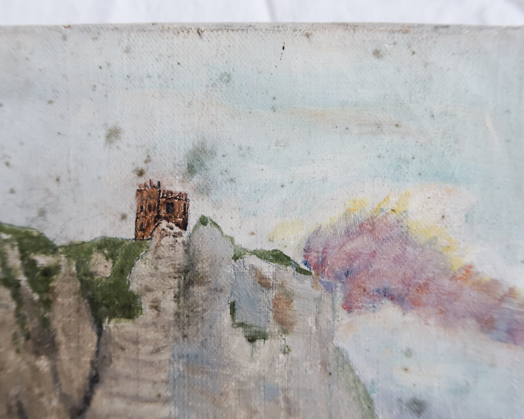 Chateau on Clifftop Painting