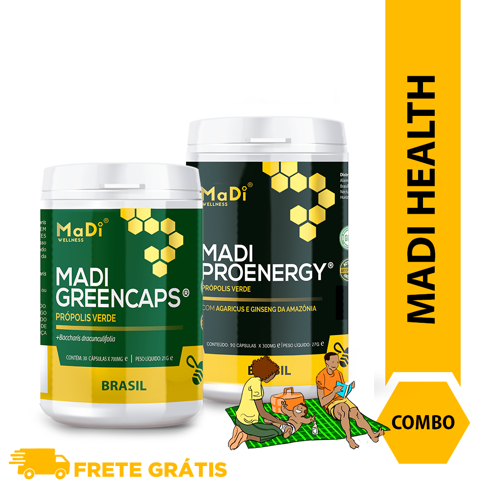 COMBO MADI HEALTH –  Greencaps + Proenergy