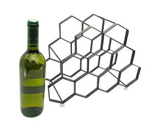 3 x 9 Bottle Wine Rack -  Total 27 Bottle Storage - Portable. Modern &  Free Standing Metal