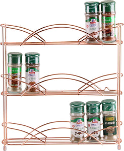 8 x Free Standing & Wall Mounted Spice and Herb Rack - Copper - 1 Carton