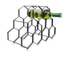 Load image into Gallery viewer, 3 x 9 Bottle Wine Rack -  Total 27 Bottle Storage - Portable. Modern &  Free Standing Metal