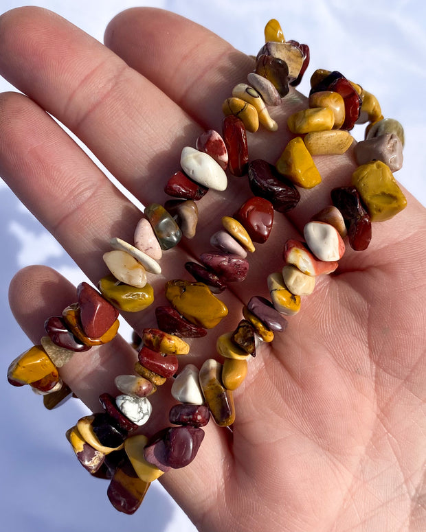 Mookaite Chip Bead Necklace - 36 inches