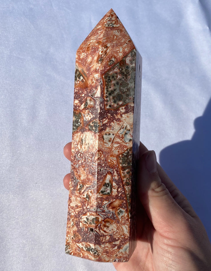 XL Leopardskin Jasper Tower #2