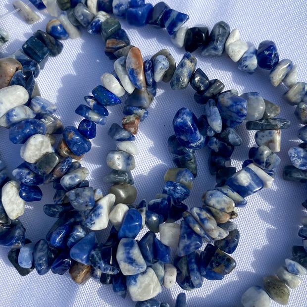 Sodalite Chip Bead Necklace - 36 inches