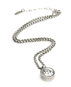Danon Round Crystal Necklace