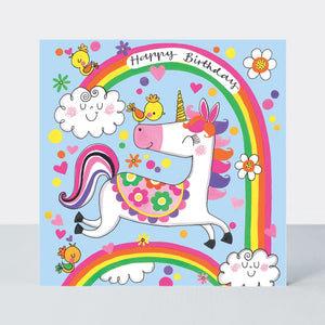 Jigsaw Birthday Card - Unicorn & Rainbows