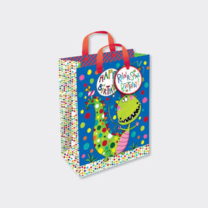 Rachel Ellen Designs small children's gift bag Dinosaur