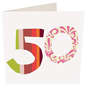 Caroline Gardner 50 Birthday Card